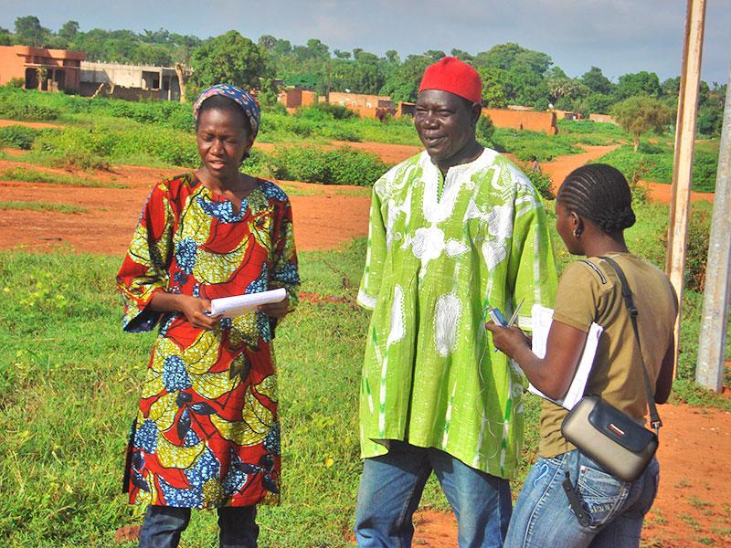 Avec le président de la confédération paysanne du Faso